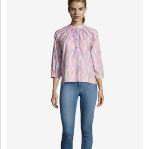 NEW • Tucker NYC • The Combo Classic Blouse Large